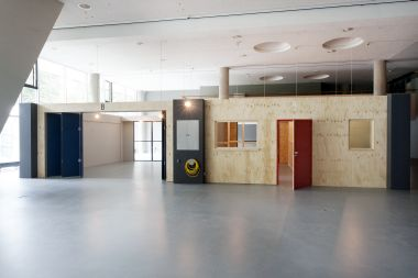 Assemble, Teilwohnung, 2015, 1:1-Modell. Foto: Jens Liebchen / Haus der Kulturen der Welt